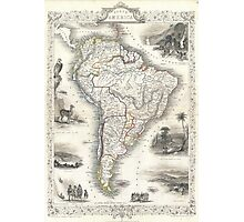 Vintage Map of South America (1850) Photographic Print