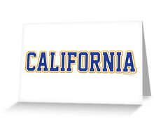 California Jersey Font Blue Greeting Card