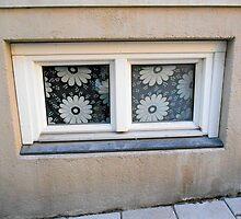 White Flowered Window by Kathleen Brant