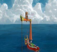 Wind Waker-Lone Ocean  by TomsTops
