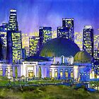 Griffith Park Observatory with LA Nocturne by Randy Sprout