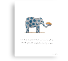 polka dot elephants, serving us pie Canvas Print