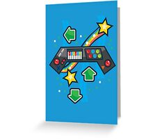 Arcade Keyboard Greeting Card