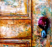 The Red Door Knob by © Janis Zroback
