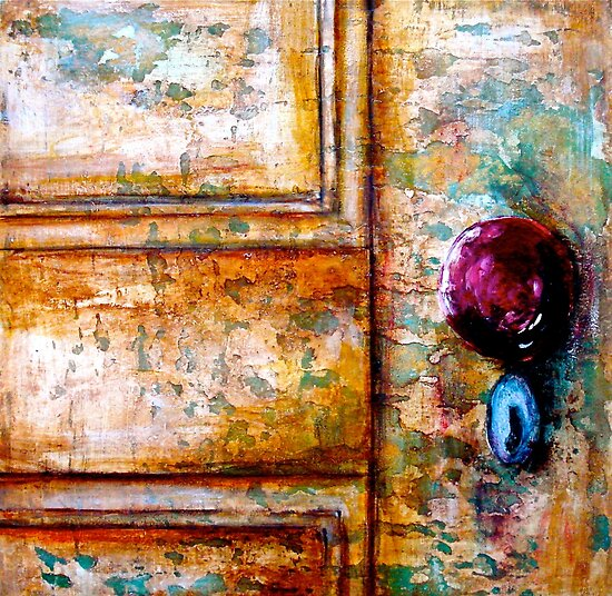 The Red Door Knob by ©Janis Zroback