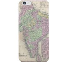 Vintage Map of India (1853) iPhone Case/Skin