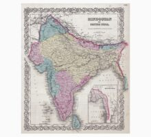 Vintage Map of India (1855) T-Shirt