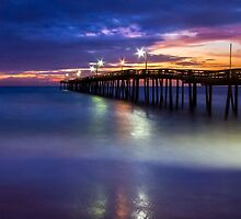 Nags Head Fishing Pier by Kenneth Keifer