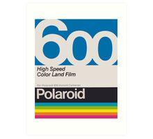 Polaroid Film 600 Art Print