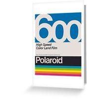 Polaroid Film 600 Greeting Card
