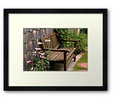 The Sheltered Bench Framed Print
