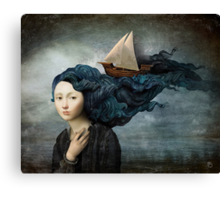 Message from the Sea Canvas Print