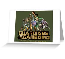 Guardians of the Game Grid. Greeting Card
