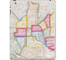 Vintage Map of Downtown Baltimore (1860) iPad Case/Skin