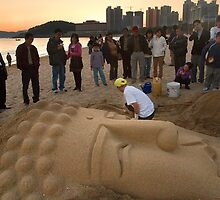 Sand Buddha - Busan, South Korea by Alex Zuccarelli