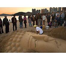 Sand Buddha - Busan, South Korea Photographic Print