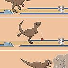 Tyrannosaurus Rex - Bowling Kingpin by Thingsesque