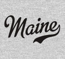 Maine Script Black by USAswagg