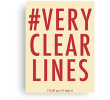 ALT #Very Clear Lines Canvas Print