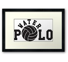 Water polo Framed Print
