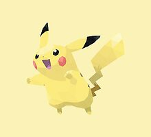 Pikachu Low Poly by meowzilla