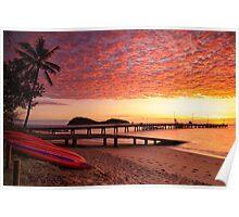 Palm Cove Dawn Poster