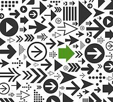 Background of arrows by Aleksander1