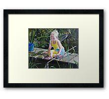 Kikkervisjes vangen - fishing for babyfrogs Framed Print