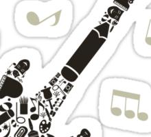 Art a guitar Sticker