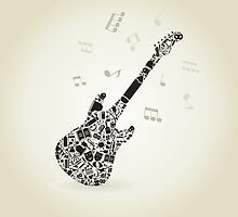 Art a guitar by Aleksander1