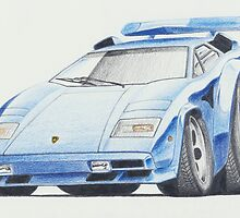 Lamborghini Countach by Glens Graphix by GlensGraphix