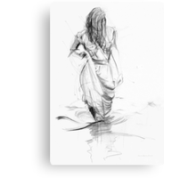 Lady In the Waters  Canvas Print
