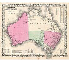 Vintage Map of Australia (1862) Photographic Print