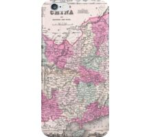 Vintage Map of China (1862)  iPhone Case/Skin
