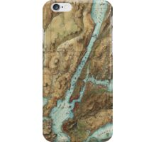 Vintage Map of New York City Harbor (1864)  iPhone Case/Skin