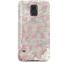 Vintage Map of Indiana (1864) Samsung Galaxy Case/Skin