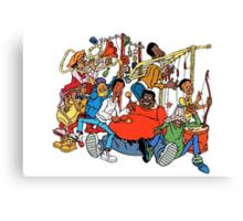 Fat Albert and the Junkyard Gang Canvas Print