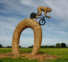 Olympic Statue made of Hay Bales by AnnDixon