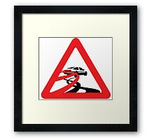 Caution: Inertia Drift Framed Print
