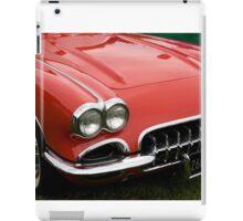 the hood of a classic sports car iPad Case/Skin