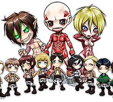 Attack On Titan CHIBI!!! So KAWAIIIII!!! by WolkyWarwick