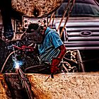 Welder by Paul Wolf