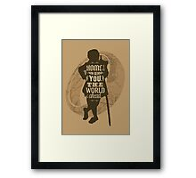 Home Is Now Behind You Framed Print