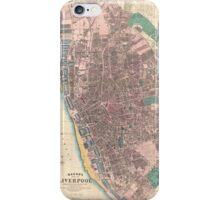 Vintage Map of Liverpool England (1890) iPhone Case/Skin