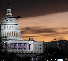 United States Capitol Building at Dusk by BravuraMedia