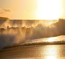 Golden Wave of Makena by Angelina Hills
