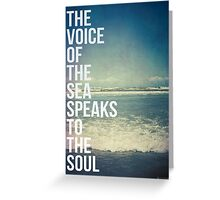The Voice Of The Sea Greeting Card