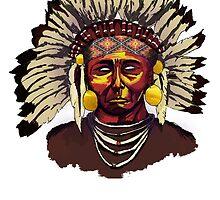 Native American Chief by azaky