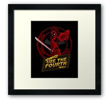 Use The Fourth Wall Framed Print