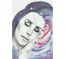 Lana Del Rey on Galaxy Background Photographic Print